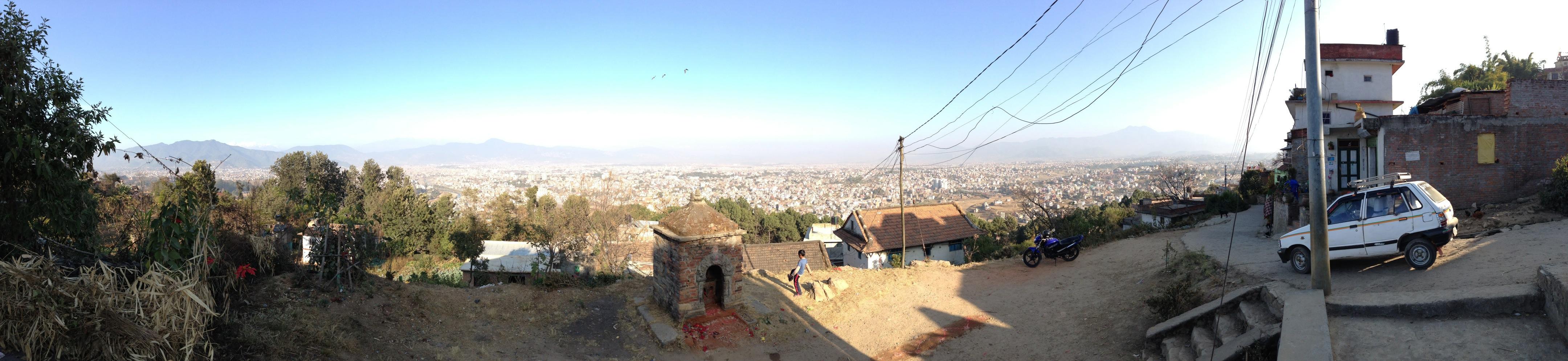 Ausblick auf Kathmandu