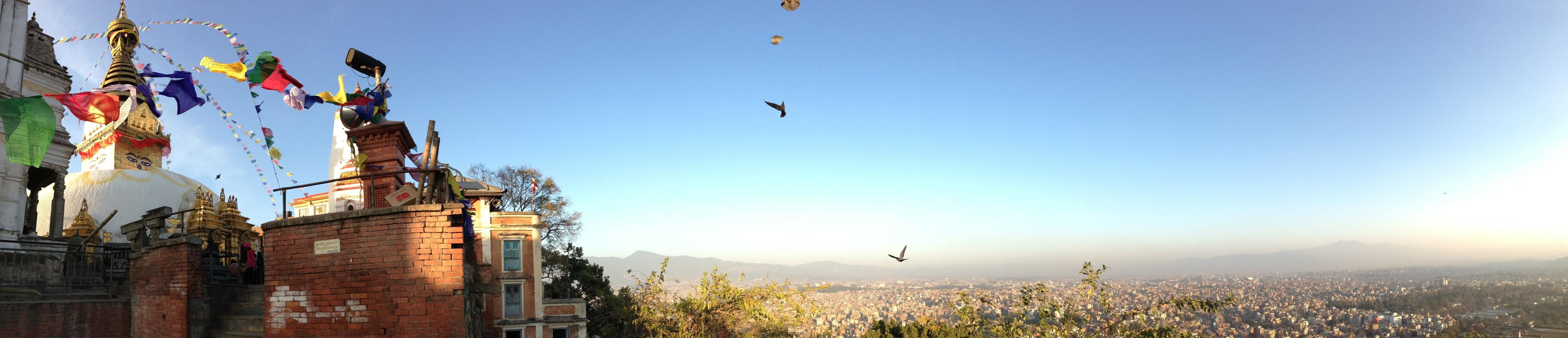 Swayambunath und Kathmandu