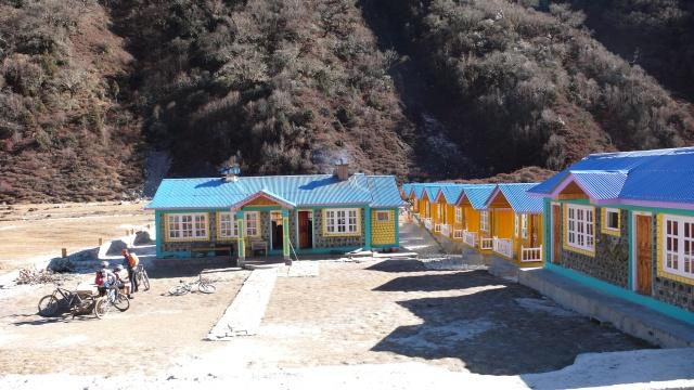 Schöne Lodge in Bimtang (3700 m)