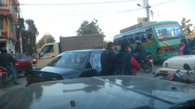 Kathmandu Traffic Jam