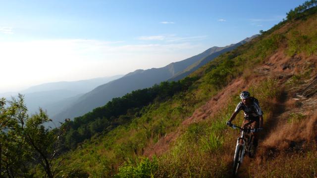Guide Pankrach auf dem letzten Trail an diesem Tag