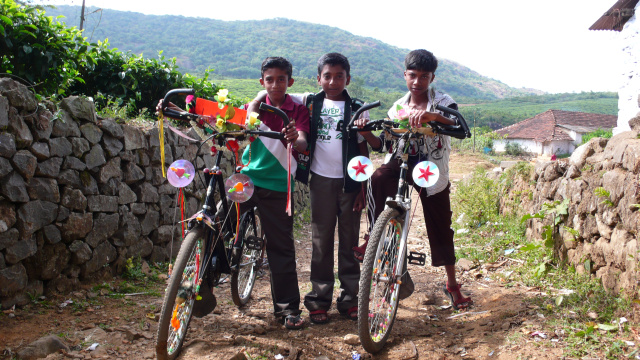 Die Bikes der local youngsters